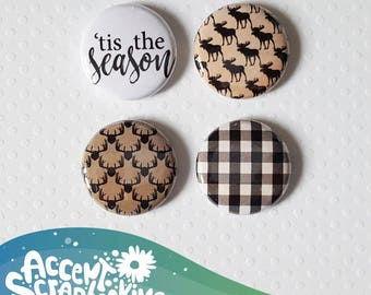 "Button - 1 ""' Tis the Season"