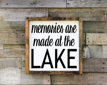 Wood Sign • Memories are Made at the Lake • Free Shipping • Cottage Decor • Lake House Decor • Many Sizes to Choose From!