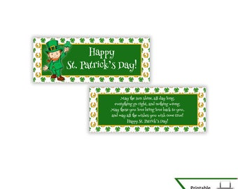 St. Patrick's Day Treat Bag Toppers, St. Patrick's Day, St. Patty's Day, Party Favor, Candy Bag Topper, Bag Topper, Instant Download