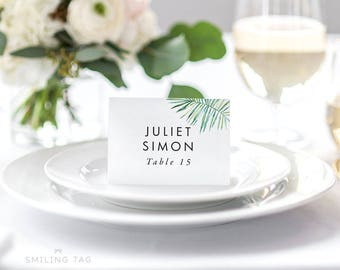 Personalized Printable Wedding Place Cards - Wedding Escort Cards - Placecards - Table Setting Cards - Letter or A4 Size (Item code: P084)