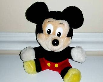 Vintage Mickey Mouse Plush, Mickey Mouse Doll, Vintage Mickey, Mickey Mouse, Disney World, Vintage Toys, Plushies, Vintage Stuffed Animal