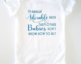 I'm bringin' adorable back - bodysuit - Baby clothing - Baby Boy & Girl Clothes - Baby gift - bodysuit with saying - funny baby one piece