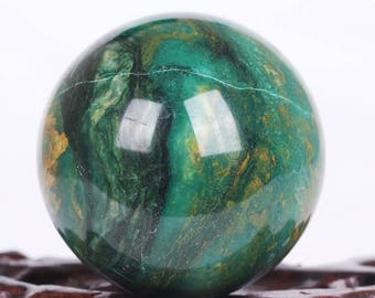 Natural African Green Jade Crystal Ball Healing, Crystals and Minerals,#Q432