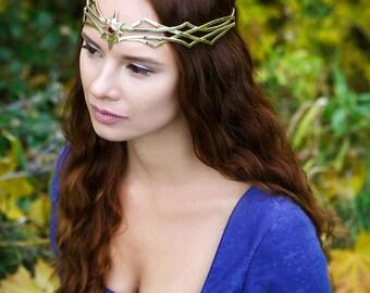 Tolkien star - Fairy Elven crown - Silver Bridal Diadem - Celtic Circlet - Headdress Circlet - Jewelry Diadem - Elven Bridal Tiara – Narven