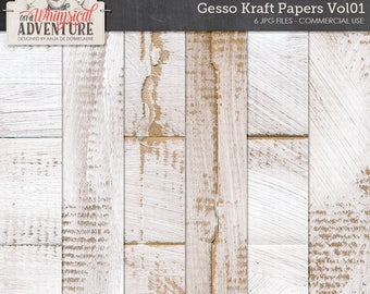 Gesso Paper, Gessoed Cardboard, Backgrounds, Digital Papers, Commercial Use OK, Kraft Backgrounds, Textures, Art Journaling, Mixed Media
