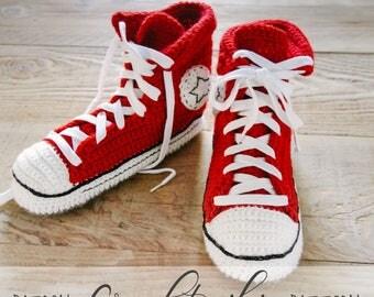 CROCHET PATTERN #001---  Cool crochet slippers instant download