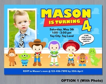 Toy Story Invitation, Toy Story Birthday Invitation, Toy Story Photo Invitation, Toy Story Party, Toy Story Invitation Printable