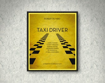 Taxi Driver Movie Poster Print, Home Decor, Print Art Poster