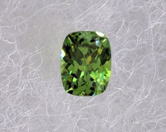 0.87 Carat Cushion Cut Demantoid Garnet from Madagascar