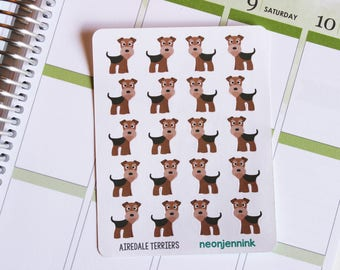 Airedale Terrier Stickers (Set of 20 Stickers)