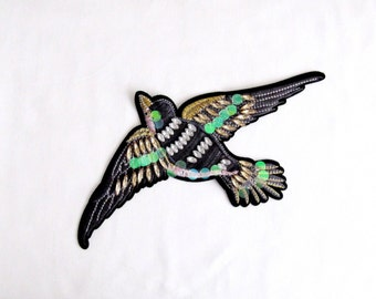 Bird Patch /Bird Applique/Bird Embroidered Patch/Animal Patch/Sew on Applique/Costume Embellishment/