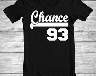 Chance 93 Chance The Rapper Shirt Unisex Ladies V-Neck Tank Long Sleeve Trending 1 Hip Hop Rapper Boy Crush Bae