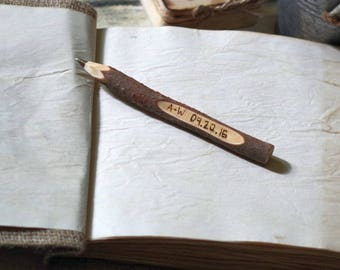 Rustic Wedding Guest Book Pen, Twig Pen Wedding Favours, Personalised, Rustic, Ethical, Recycled.