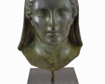 Demeter Bronze bust Goddess of agriculture sculpture