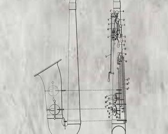 Saxophone Patent #638385 dated December 5 1899.