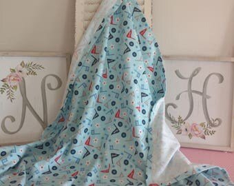 XL Flannel Swaddle/Receiving Blanket/Single Layer/Lightweight