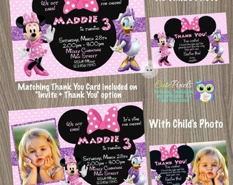 Minnie Mouse Invitation, Daisy Duck Invitation, Minnie Mouse Birthday, Minnie Mouse Party, Daisy Duck Birthday, Minnie Mouse Pink