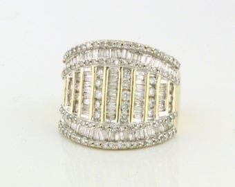 SPARKLING 2.00tcw Diamond Wide Band with Personality and Bling! 10k gold DIAR10171