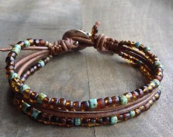 Bohemian bracelet boho chic bracelet womens jewelry boho bracelet bohemian jewelry boho chic jewerly gift for her leather bracelet