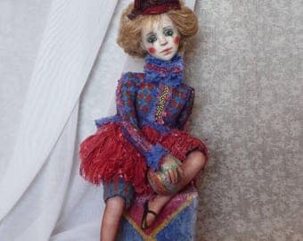 OOAK Art Doll My sad clown