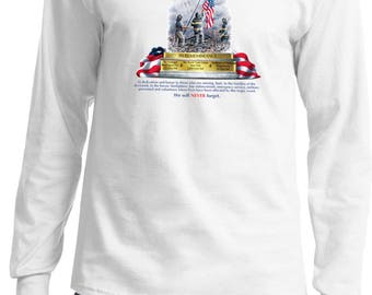 Men's 9-11 Never Forget Long Sleeve Tee T-Shirt 06328HL2-PC61LS