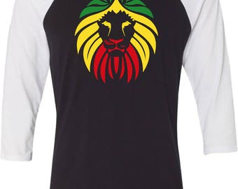 Men's Rasta Lion Head Raglan Shirt LIONHEAD-3200