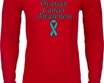 Men's Support Ovarian Cancer Awareness Thermal Shirt SOCA-N8201