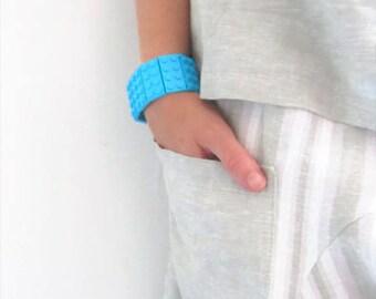 Beach Bracelets for Women-Azure Bracelet-Simple Bracelet-Elastic Bracelet-Chic Bracelet Gift-Plastic Bangle Bracelet-Turquoise Bracelet