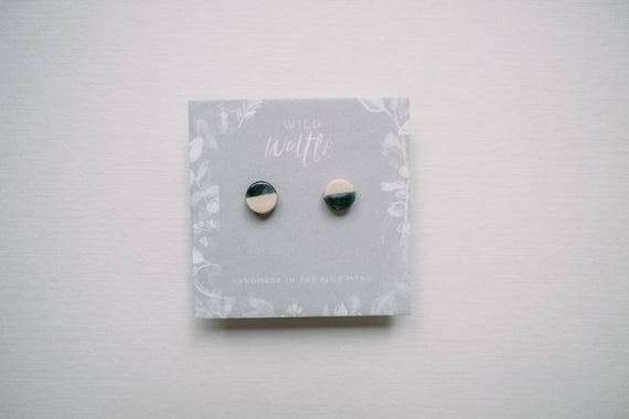 Day/Night Studs in Earthenware