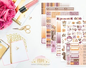 Fall Critters Kit | Fall Stickers | Weekly Kit | Autumn Kit | Planner Stickers designed for use with the Erin Condren Life Planner