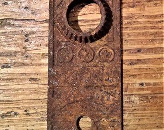 Antique, Rustic, Iron, East Lake Door Plate