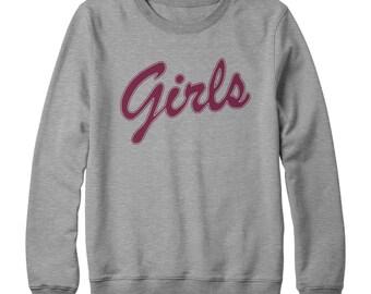 Girls from Friends Sweatshirt, Girl friends slogan tv show sweater unisex womens ladies mens SPORT GREY top marl hipster feminist boho L94
