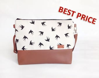 Shoulder Bag Crossbody purse Women bags Wedding Gift for women Handbags Purse Crossbody purse Faux Leather purse Bag Summer Gift Birds