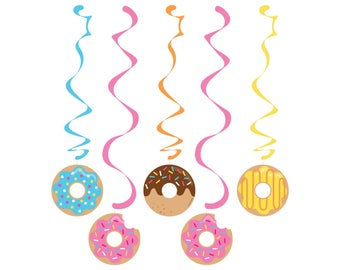 Donut Party Decor - Donut Party - Donut Birthday - Garland - Sprinkles Birthday - Donut Baby Shower - Hanging Decorations - Donuts - Banner