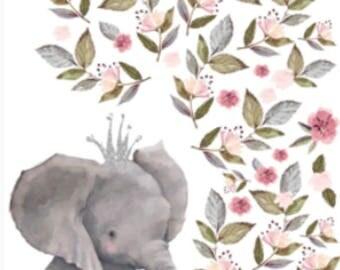 Elephant Minky Blanket - Designer Minky - Grey