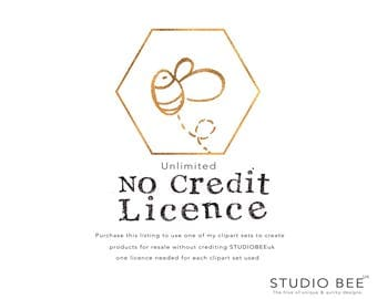 No Credit Licence - Commercial Licence for STUDIOBEEuk clipart - Unlimited