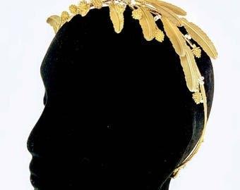 Gold Statement Headband