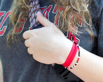 Custom School Spirit Secret Message Bracelet - College Team Colors Gifts