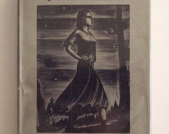 Vintage book: Midsummernight A Novel by Carl Wilhelmson; illustrated with woodcuts by Lynd Ward, 1st edition, in original dust jacket, 1930