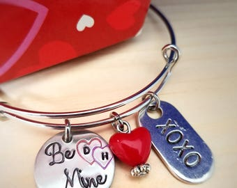 Valentines Day Jewelry - Be Mine Bracelet - Personalized Valentines Day Gift - Valentine Gift for Daughter - Wife Valentine Gift