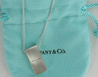 Tiffany & Co. Sterling Silver VINTAGE and  RARE Frank Gehry Pendant Necklace 20 inches