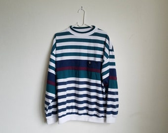 Vintage Member's Only Stripped Long Sleeve Sz. XL