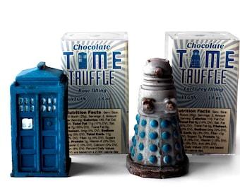 Chocolate Dalek and Tardis Truffles