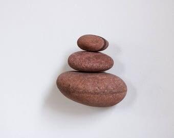 Rock Cairn Wall Sculpture - Small Floating Shelf - Stone Stack - Zen Balance Art -Meditation Room Decor