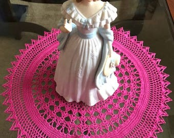 Hot pink shell doily