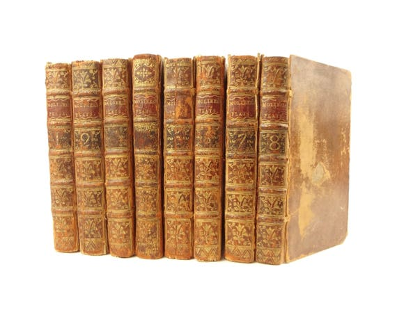 1732 Select Comedies of Moliere. 1st English and French edition. 17 engravings. Complete set.