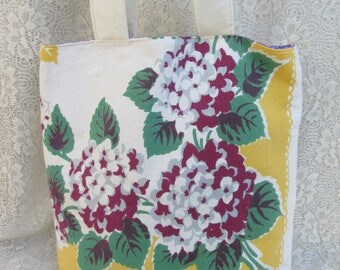 Vintage Floral Tablecloth Tote Bag by OldisNew517