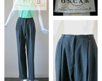 Oscar De La Renta Vintage Trousers / Dress Pants - Size 4 - Pleated & Amazing!