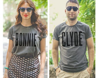 Matching shirts / Bonnie and Clyde shirts / Matching couple shirts /