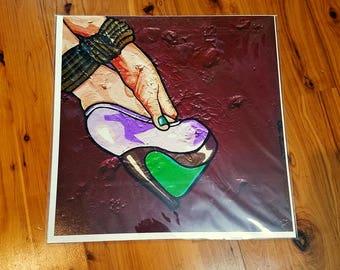 """Like it Rough"" Heels Bondage Pop Art Print [open edition, 12x12""]"